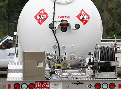 rear of propane truck